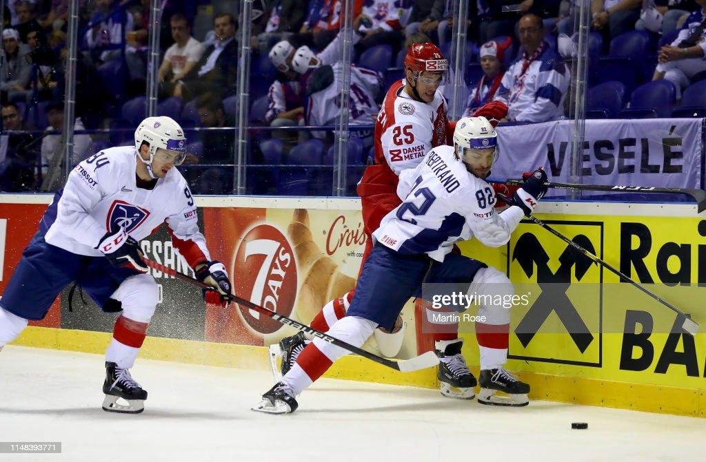 Denmark v France: Group A - 2019 IIHF Ice Hockey World Championship Slovakia : News Photo