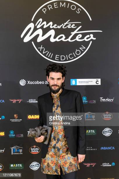 Oliver Laxe winner of Best Director attends the Mestre Mateo Awards in A Coruna on March 07 2020 in A Coruna Spain