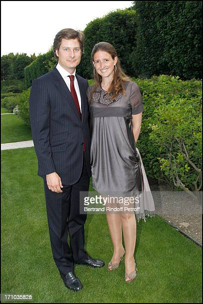Oliver Le Maire and his wife Marie at Charity Dinner Sponsored By Longines Elegance Is An Attitude In Benefit Of Foundation Agassi At Museum Rodin In...