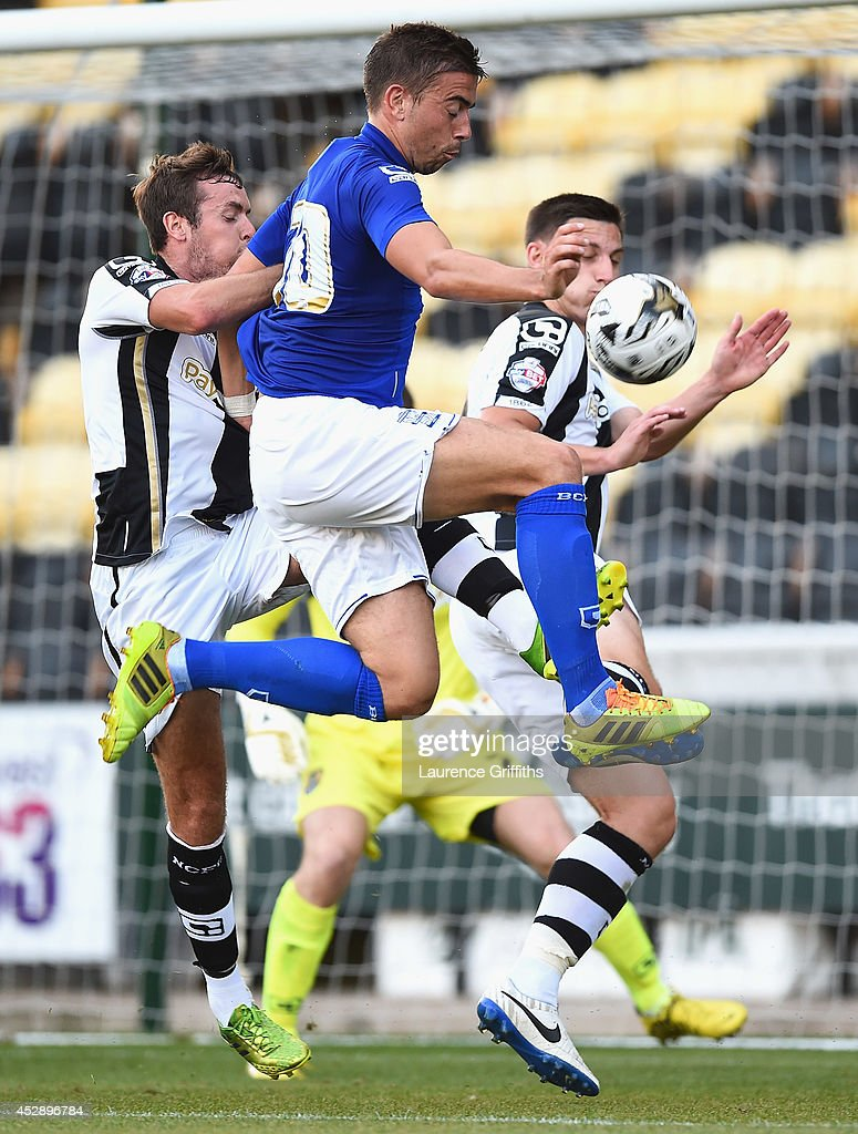 Oliver Lee of Birmingham City in action during the Pre Season Friendly match between Notts County and Birmingham City at Meadow Lane on July 29, 2014 in Nottingham, England.