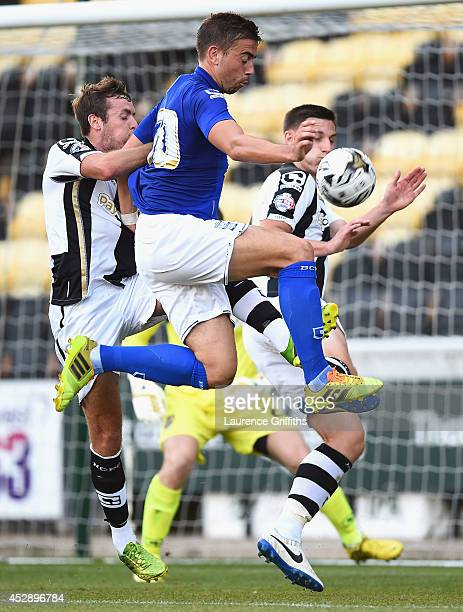 Oliver Lee of Birmingham City in action during the Pre Season Friendly match between Notts County and Birmingham City at Meadow Lane on July 29 2014...