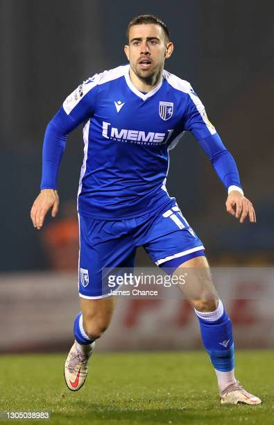 Oliver Lee of Gillingham FC looks on during the Sky Bet League One match between Gillingham and Milton Keynes Dons at MEMS Priestfield Stadium on...
