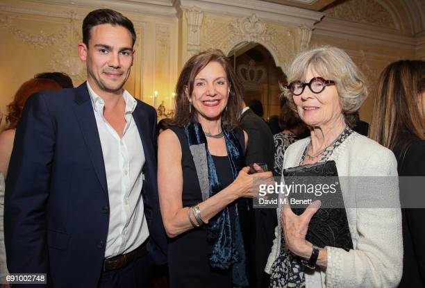 Oliver Mackwood Belinda Lang and Guest attend the press night performance of Sand In The Sandwiches at the Theatre Royal Haymarket on May 31 2017 in...