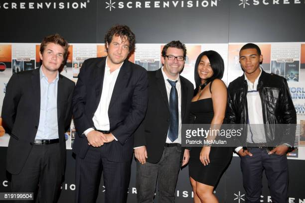 Oliver Marler Greg Brill Andy Blacker Monique Mosley and Demetrius Idlett attend SCREENVISION Presents New Programming Partnerships and An Advance...