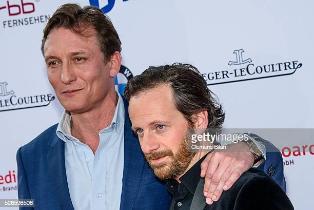 Oliver Masucci and Fabian Busch attend the nominee dinner for the German Film Award 2015 Lola on April 30 2016 in Berlin Germany
