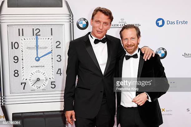 Oliver Masucci and Fabian Busch during the Lola - German Film Award 2016 on May 27, 2016 in Berlin, Germany.