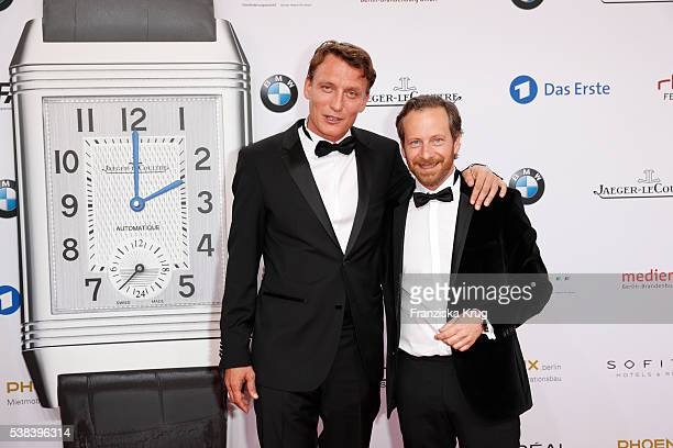 Oliver Masucci and Fabian Busch during the Lola German Film Award 2016 on May 27 2016 in Berlin Germany