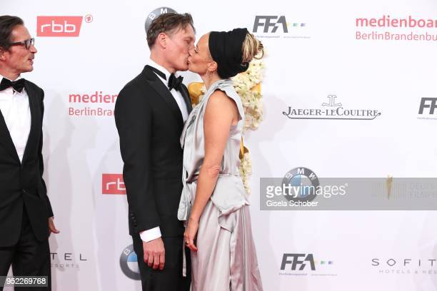 Oliver Masucci and Katja Riemann during the Lola German Film Award red carpet at Messe Berlin on April 27 2018 in Berlin Germany