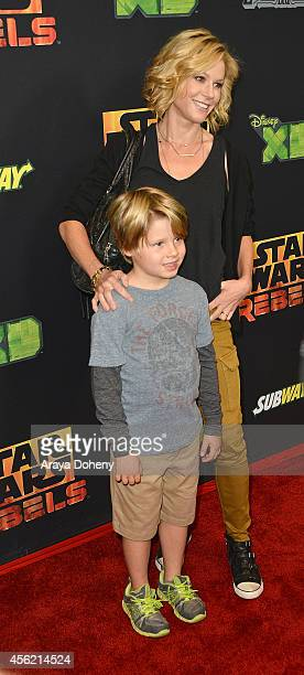 Oliver McLanahan Phillips and Julie Bowen attend the Disney XD's Star Wars Rebels Spark Of Rebellion Los Angeles special screening at AMC Century...