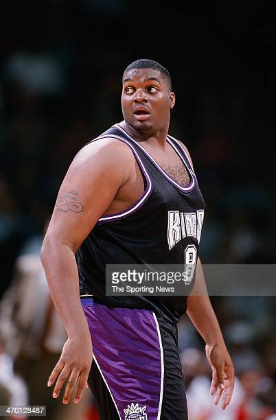 Oliver Miller of the Sacramento Kings during the game against the Houston Rockets on February 10 1999 at Compaq Center in Houston Texas