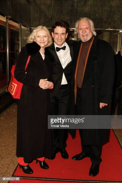Oliver Mommsen Achim Wolff and his wife Rita Feldmaier attend the 'Die Tanzstunde' premiere on January 14 2018 in Berlin Germany