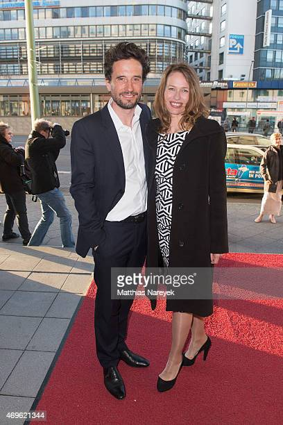 Oliver Mommsen and his wife Nicola attend the Victress Awards Gala 2015 at Andel's Hotel on April 13 2015 in Berlin Germany