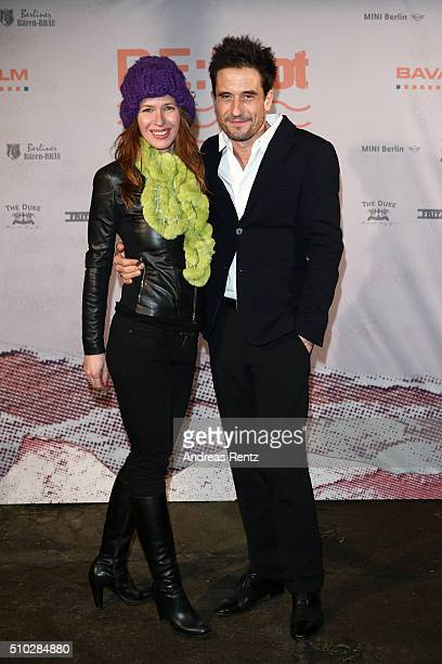 Oliver Mommsen and his wife Nicola Mommsen attend the Bavaria Film Party REBOOT on February 14 2016 in Berlin Germany