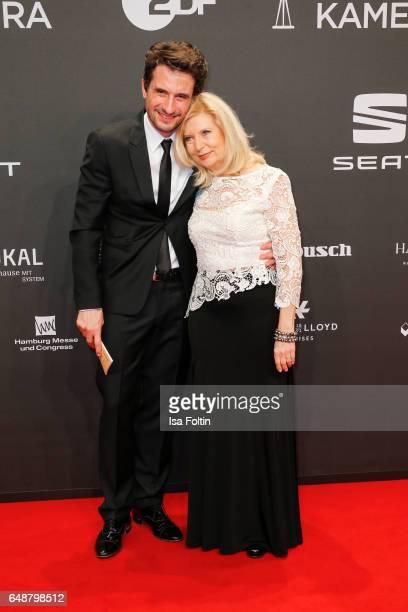 Oliver Mommsen and Sabine Postel arrive for the Goldene Kamera on March 4 2017 in Hamburg Germany