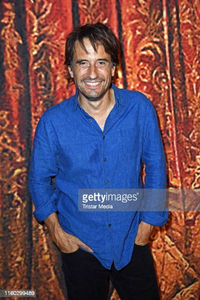 Oliver Mommsen attends the Schiller-Theater repertoire 2019/2020 prress conference on August 8, 2019 in Berlin, Germany.