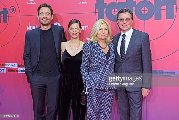 Oliver Mommsen Camilla Renschke Sabine Postel and Volker Herres attend celebration event of 1000 Episodes of the crime movie 'Tatort' at Cinemaxx...