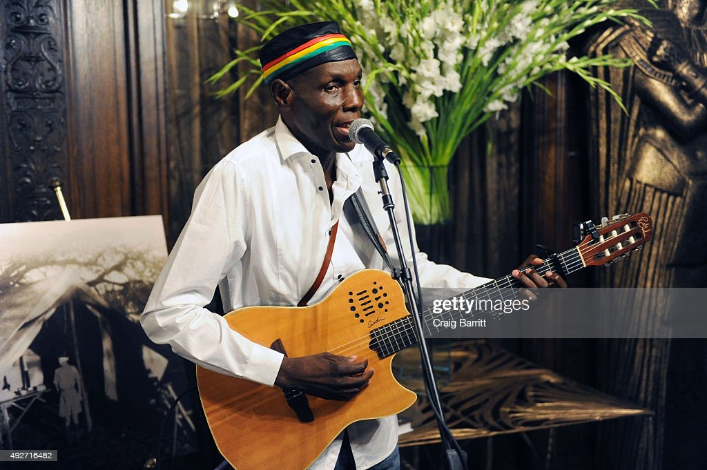 Oliver Mtukudzi attends Geoffrey Kent's book launch celebrating: 'Safari: A Memoir Of A Worldwide Travel Pioneer' on October 14, 2015 in New York City.