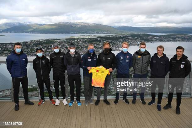 Oliver Naesen of Belgium and AG2R Citroën Team, Bryan Coquard of France and Team B&B Hotels P/B KTM, Warren Barguil of France and Team Arkéa -...
