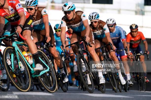 Oliver Naesen of Belgium and Team AG2R La Mondiale / Benoit Cosnefroy of France and Team AG2R La Mondiale / Peloton / during the 7th Tour de France...