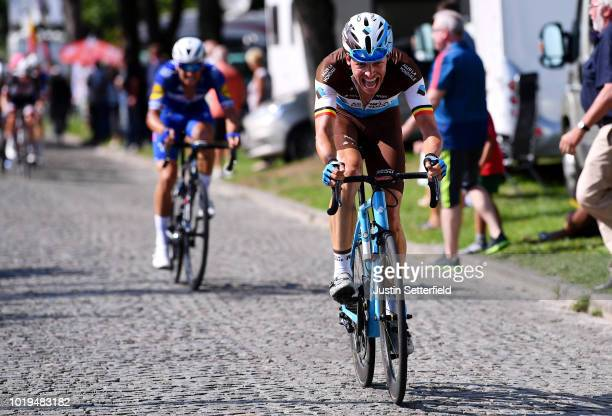 Oliver Naesen of Belgium and Team AG2R La Mondiale / during the 14th BinckBank Tour 2018 Stage 7 a 2156km stage from Lacs de l'Eau d'Heure to Muur...