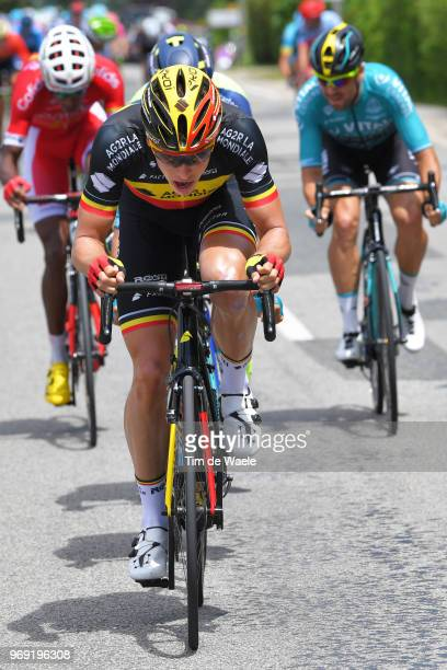 Oliver Naesen of Belgium and Team AG2R La Mondiale / during the 70th Criterium du Dauphine 2018 Stage 4 a 181km stage from ChazeysurAin to...