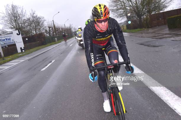 Oliver Naesen of Belgium and Team AG2R La Mondiale / during the 73rd Dwars door Vlaanderen 2018 a 1801km race from Roeselare to Waregem on March 28...