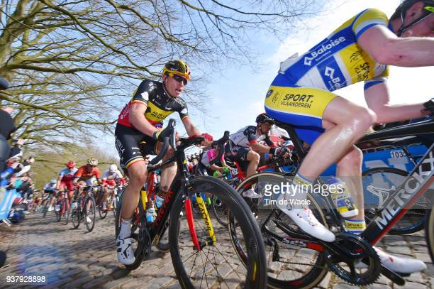Oliver Naesen of Belgium and Team AG2R La Mondiale / during the 80th GentWevelgem In Flanders Fields 2018 a 2508km race from Deinze to Wevelgem on...