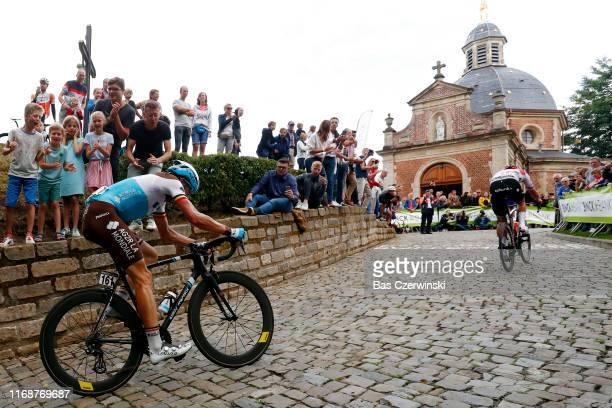 Oliver Naesen of Belgium and Team AG2R La Mondiale / Mads Pedersen of Denmark and Team Trek-Segafredo / Wall of Geraardsbergen / De Muur / Fans /...