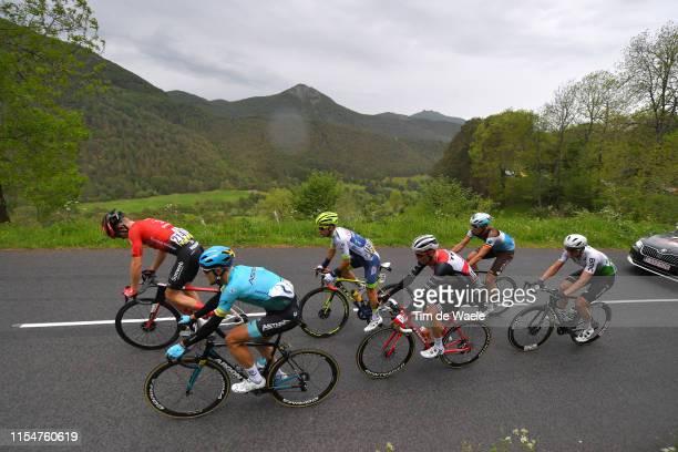 Oliver Naesen of Belgium and Team AG2R La Mondiale / Magnus Cort of Denmark and Astana Pro Team / Niklas Eg of Denmark and Team TrekSegafredo /...