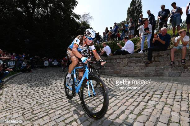Oliver Naesen of Belgium and Team AG2R La Mondiale / Muur van Geraardsbergen / Fans / Public / during the 14th BinckBank Tour 2018 Stage 7 a 2156km...