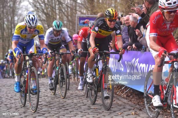 Oliver Naesen of Belgium and Team AG2R La Mondiale / Preben Van Hecke of Belgium and Team Sport Vlaanderen Baloise / Peter Sagan of Slovakia and Team...