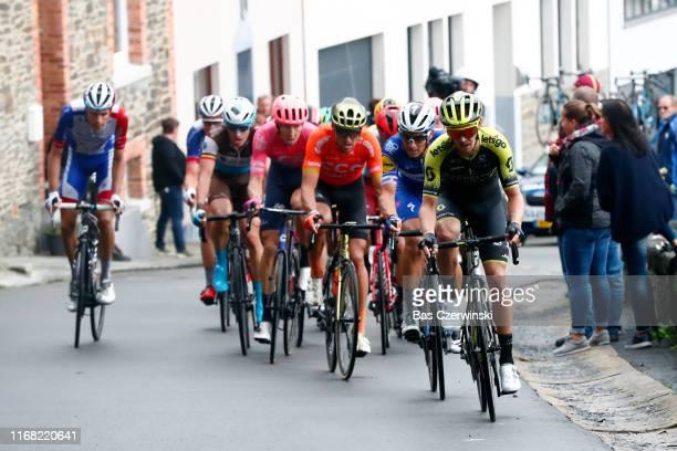 Oliver Naesen of Belgium and Team AG2R La Mondiale / Sep Vanmarcke of Belgium and Team EF Education First / Greg Van Avermaet of Belgium and CCC Team...