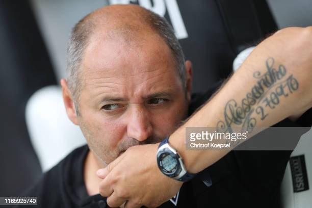 Oliver Neuville assistant coach of the U19 of Moenchengladbach looks on prior to the preseason friendly match between Borussia Moenchengladbach and...