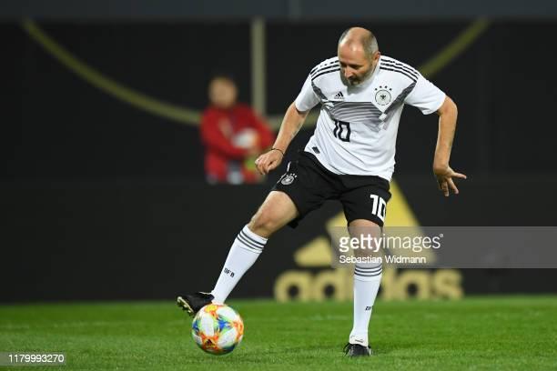 Oliver Neuville of DFBAllStars plays the ball during the Friendly Match between the DFBAllStars and Azzurri Legends at Sportpark Ronhof Thomas Sommer...