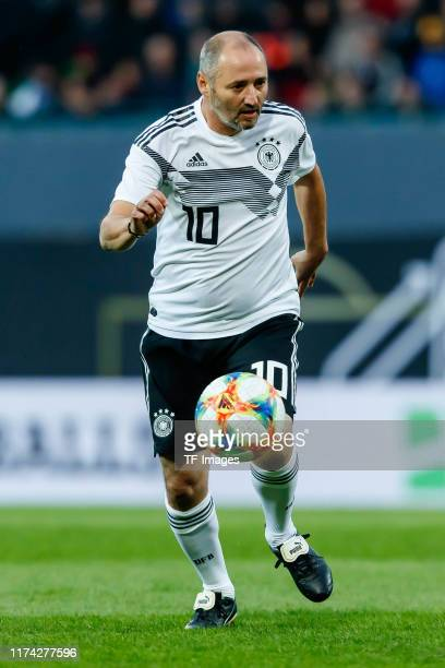 Oliver Neuville of Germany controls the ball during the friendly match between DFBAllStars and Azzurri Legends at Sportpark Ronhof Thomas Sommer on...