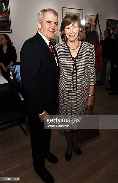 Oliver North and Betsy Stuart during Valentine's Day Book Release party for Tom Perkin's new book Sex and the Single Zillionaire Hosted by Rupert and...