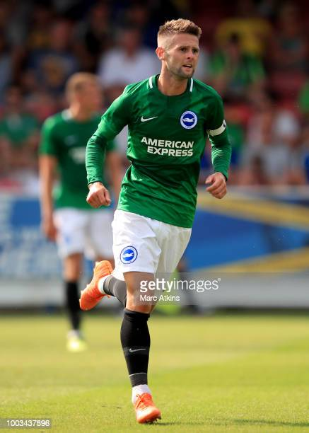 Oliver Norwood of Brighton and Hove Albion during the pre season friendly match between AFC Wimbledon and Brighton and Hove Albion at The Cherry Red...
