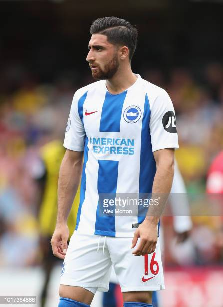 Oliver Norwood of Brighton and Hove Albion during the Premier League match between Watford FC and Brighton Hove Albion at Vicarage Road on August 11...