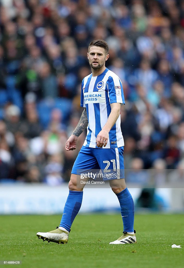 Oliver Norwood of Brighton and Hove Albion during the Sky Bet Championship match between Brighton & Hove Albion and Preston North End at Amex Stadium on October 15, 2016 in Brighton, England.
