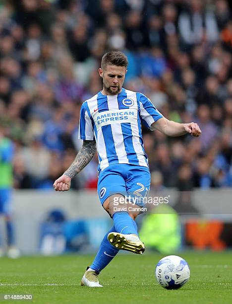 Oliver Norwood of Brighton and Hove Albion during the Sky Bet Championship match between Brighton Hove Albion and Preston North End at Amex Stadium...
