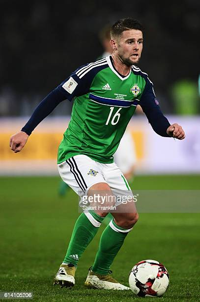 Oliver Norwood of Northen Ireland in action during the FIFA 2018 World Cup Qualifier between Germany and Northern Ireland at HDIArena on October 11...