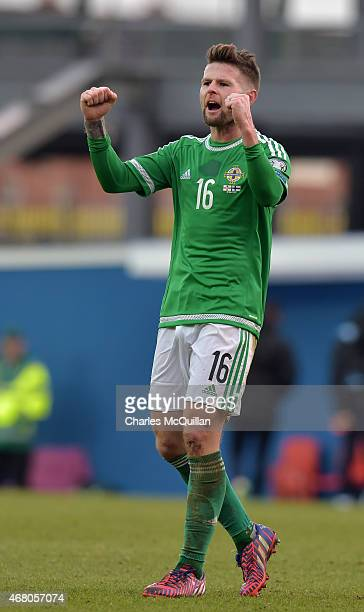 Oliver Norwood of Northern Ireland after the EURO 2016 Group F qualifier at Windsor Park on March 29 2015 in Belfast Northern Ireland