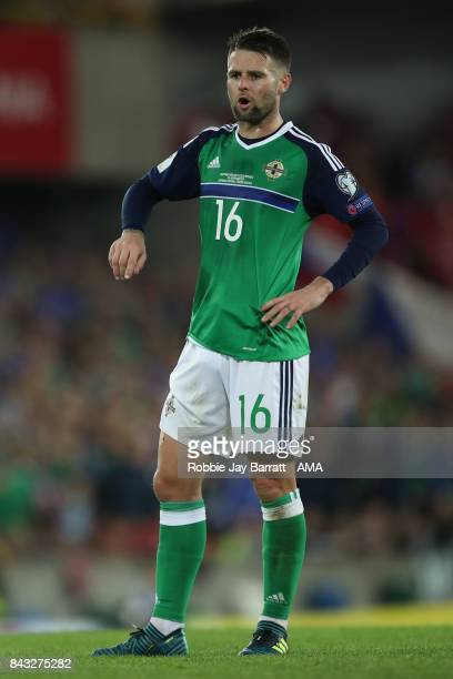 Oliver Norwood of Northern Ireland during the FIFA 2018 World Cup Qualifier between Northern Ireland and Czech Republic at Windsor Park on September...