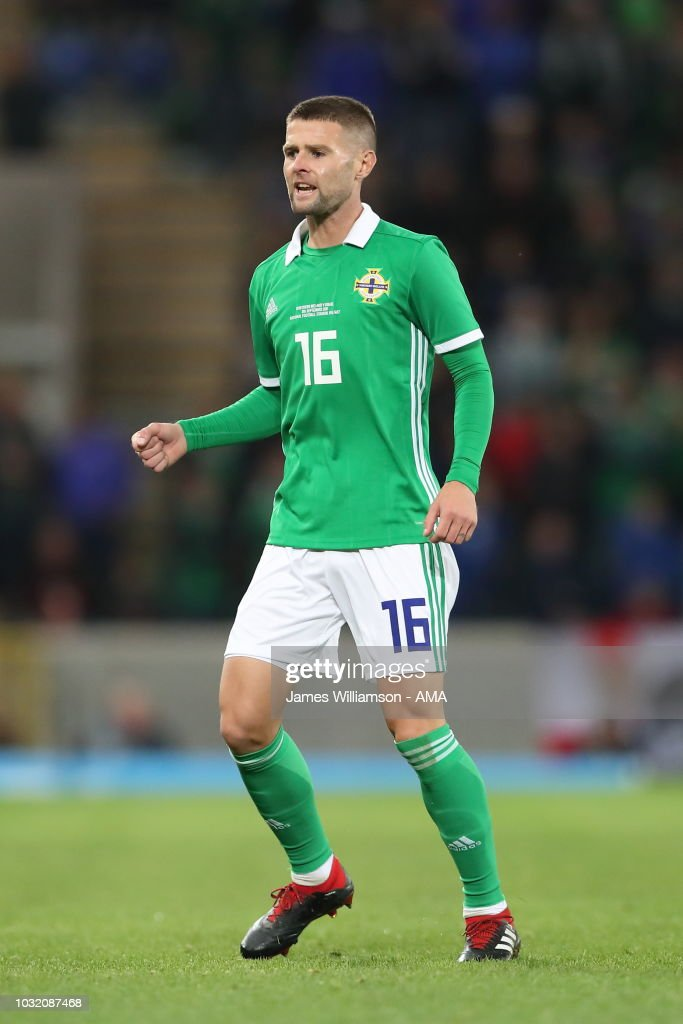 Oliver Norwood of Northern Ireland during the International Friendly between Northern Ireland and Israel at Windsor Park on September 11, 2018 in Belfast, Northern Ireland.