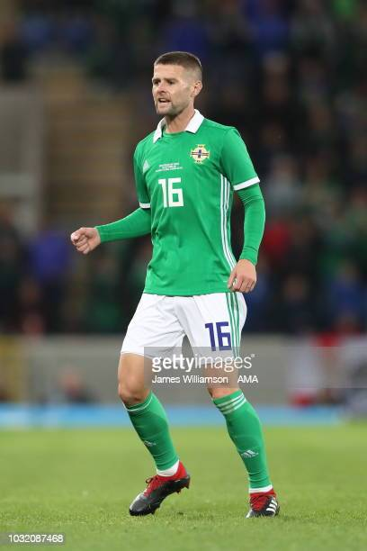 Oliver Norwood of Northern Ireland during the International Friendly between Northern Ireland and Israel at Windsor Park on September 11 2018 in...