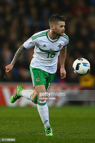 Oliver Norwood of Northern Ireland during the International Friendly match between Wales and Northern Ireland at Cardiff City Stadium on March 24...