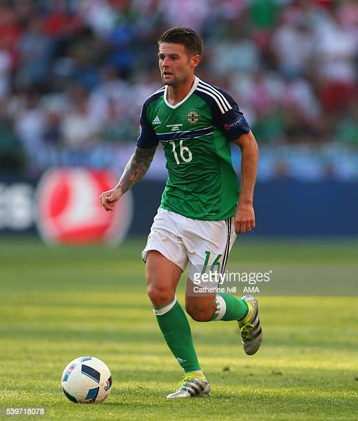 Oliver Norwood of Northern Ireland during the UEFA EURO 2016 Group C match between Poland and Northern Ireland at Allianz Riviera Stadium on June 12...