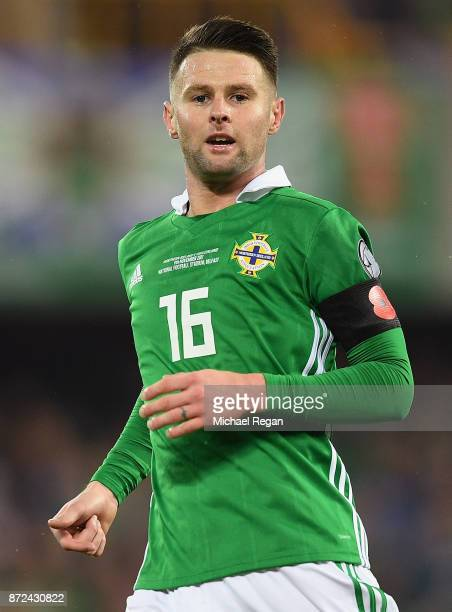 Oliver Norwood of Northern Ireland in action during the FIFA 2018 World Cup Qualifier Play-Off: First Leg between Northern Ireland and Switzerland at...