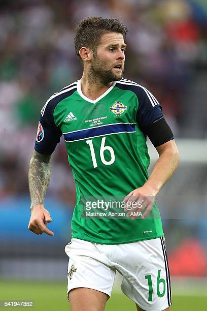 Oliver Norwood of Northern Ireland in action during the UEFA EURO 2016 Group C match between Northern Ireland and Germany at Parc des Princes on June...