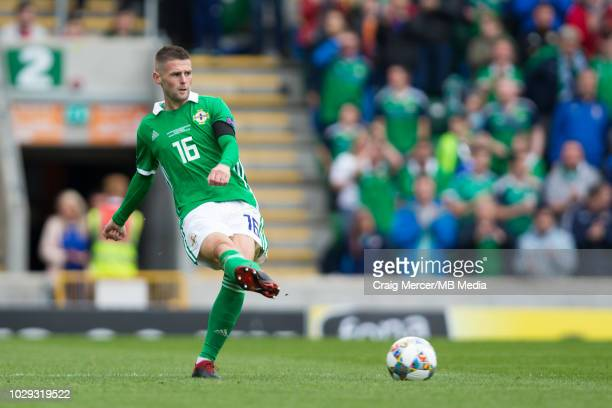 Oliver Norwood of Northern Ireland kicks the ball during the UEFA Nations League B group three match between Northern Ireland and Bosnia-Herzegovina...